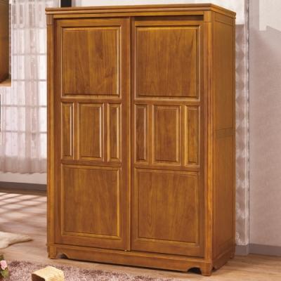 【AS】愛得樟木實木5×7尺推門衣櫥-150x63x210cm