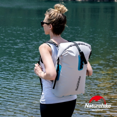 Naturehike 28L便利調節TPU乾濕分離超輕防水後背袋 收納袋 背包 灰色-急