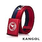 KANGOL EVOLUTION系列 英式潮流休閒自動釦皮帶-紅藍條紋 KG1181