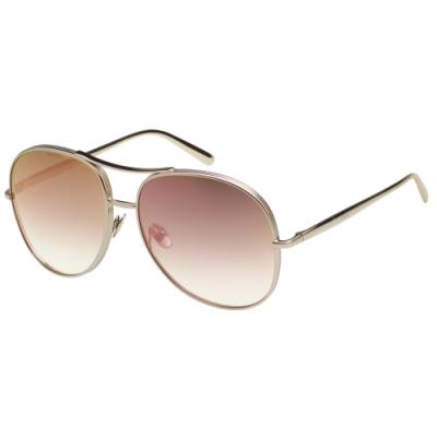CHLOE 飛官款 太陽眼鏡 玫瑰金水銀面 CE127S