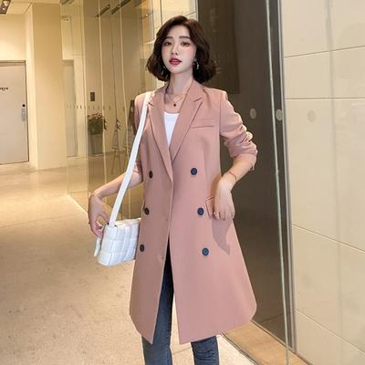 米蘭精品 風衣大衣長版外套-簡約修身雙排扣綁帶女外套2色73yt61