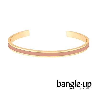 BANGLE UP 復古經典琺瑯鍍金開口手環 -淺粉