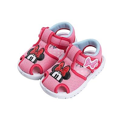 迪士尼童鞋 米妮 輕量護趾嗶嗶涼鞋-粉