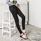 純色修身彈力窄管褲-OB大尺碼