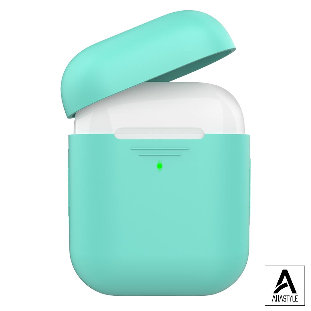 AHAStyle AirPods 1&2代矽膠保護套-綠色 1.4mm超薄款