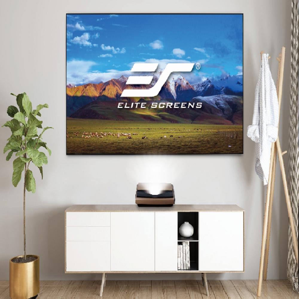 Elite Screens億立銀幕 100吋16:9 FALR2超短焦菲涅爾光亮抗光軟幕 1cm邊框 AR100H4-FALR2