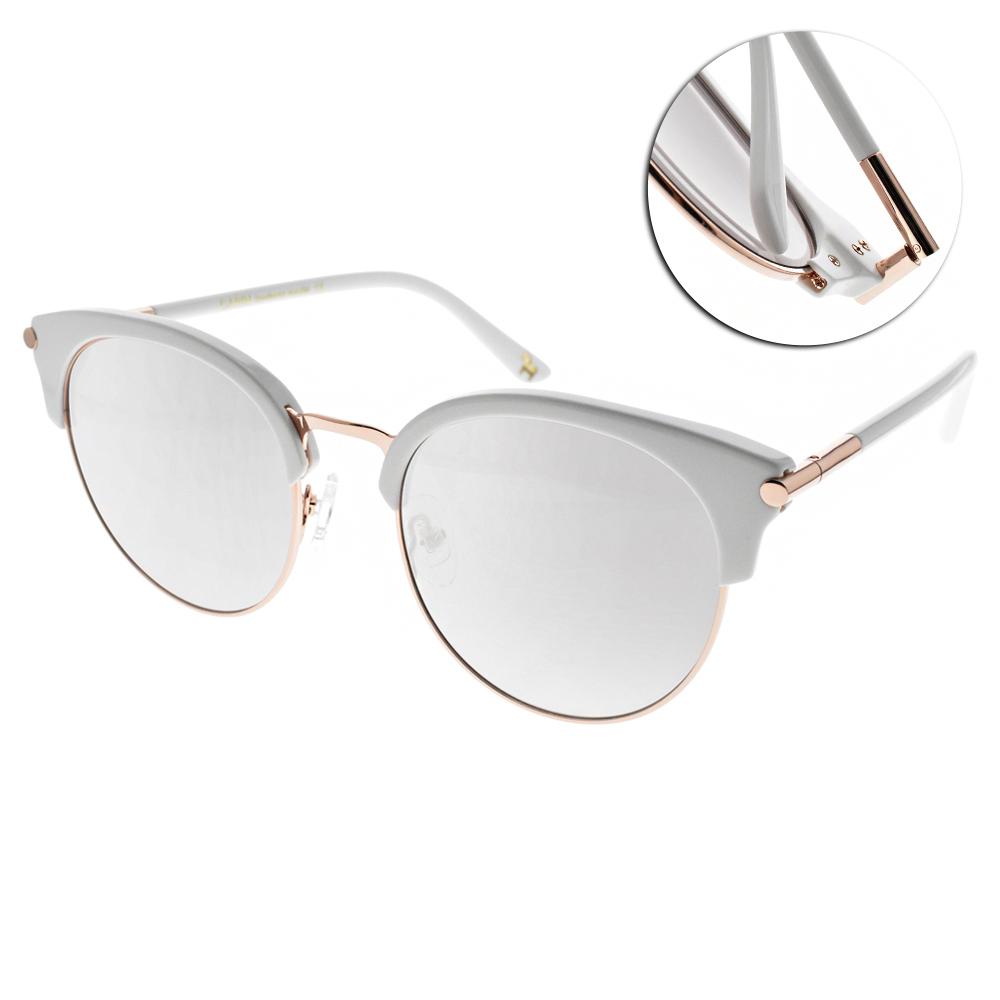 CARIN水銀太陽眼鏡 秀智代言 造型貓眼款/白金 #LOIST2 C3