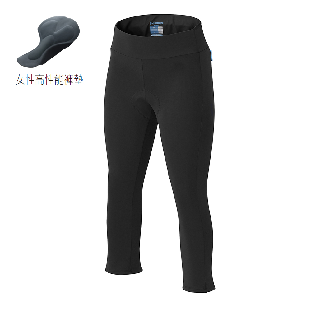 【SHIMANO】SHIMANO 女用七分車褲 黑