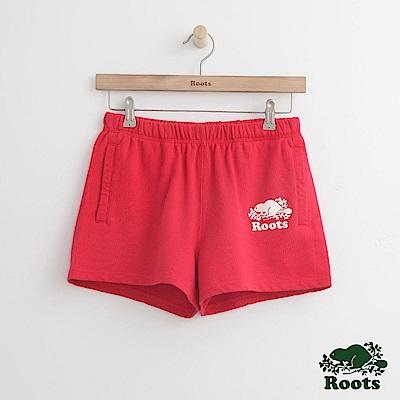 Roots -女裝- 經典海狸休閒短褲 - 紅