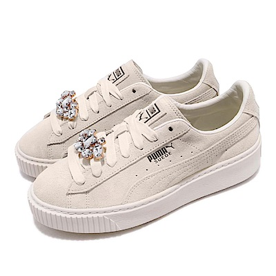 Puma 休閒鞋 Suede Platform Gem 女鞋