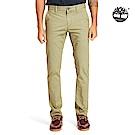 Timberland 男款茶綠色修身彈力斜紋布長褲|A1VTY