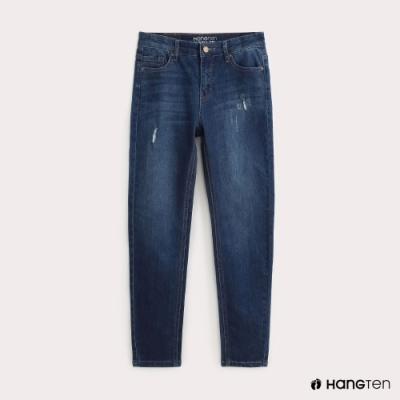 Hang Ten-女裝-SUPPER SKINNY FIT激瘦九分牛仔褲-藍