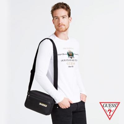 GUESS-男包-街頭時尚酷炫LOGO斜背包-黑 原價2290