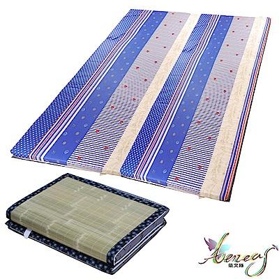 依文絲 藍海繁星純棉刮青便利床墊-雙人6x6尺