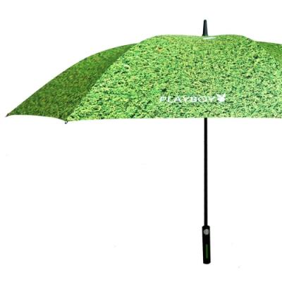 【PLAYBOY】RA 47010GN大傘面直柄高爾夫球晴雨傘綠色(傘面外徑152CM)