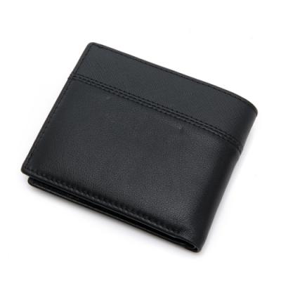 PLAYBOY- 短夾附零錢袋 Sense系列-黑色