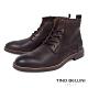 TINO BELLINI 男款葡萄牙進口牛皮原色休閒粗曠工裝靴-咖啡 product thumbnail 1