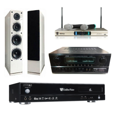 金嗓R2+SA-830U+AS-168+MR-3000D IV(伴唱機 4TB+卡拉OK套組)