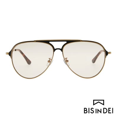 BIS IN DEI 美式飛行框太陽眼鏡-咖