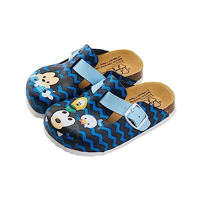 迪士尼童鞋 TsumTsum 米奇 休閒拖鞋-藍