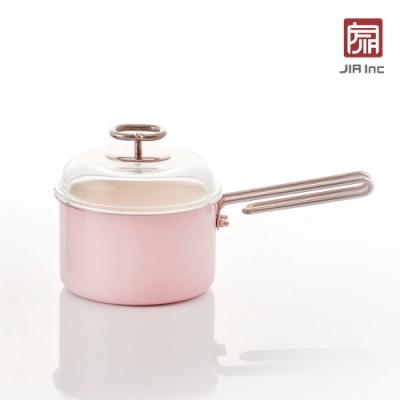 JIA Inc. 品家家品 虹彩鋼 琺瑯單柄鍋16cm-粉色