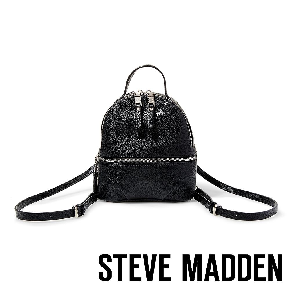 STEVE MADDEN-BJACKI-經典拉鍊後背包-黑色