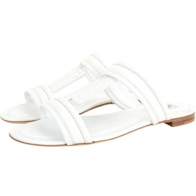 TOD'S DoubleT 牛皮涼鞋/拖鞋(白色)