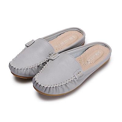 BuyGlasses 輕著素面豆豆穆勒鞋-灰