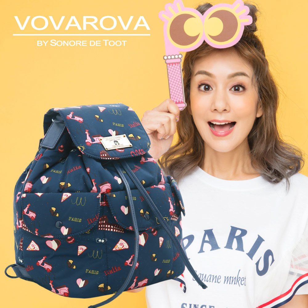VOVAROVA x 莎莎-百寶袋後背包-金莎假期-環遊世界系列