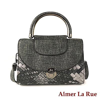 Aimer La Rue 手提側背斜背包 愛麗絲編織紋系列(三色)