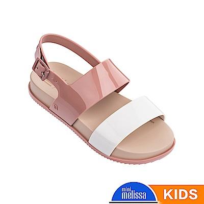 Melissa 經典撞色涼鞋-兒童款-粉白