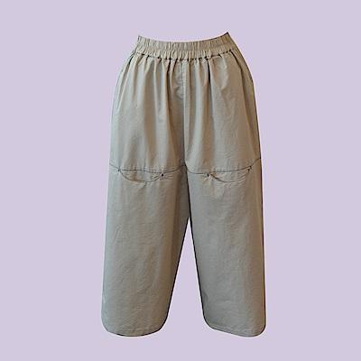 gozo 紐約城市繡線工作口袋九分寬褲(二色)