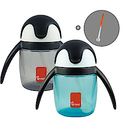【荷蘭 Umee】 優酷企鵝杯/水壺 240ml (2色可選) 加贈替換吸管1組
