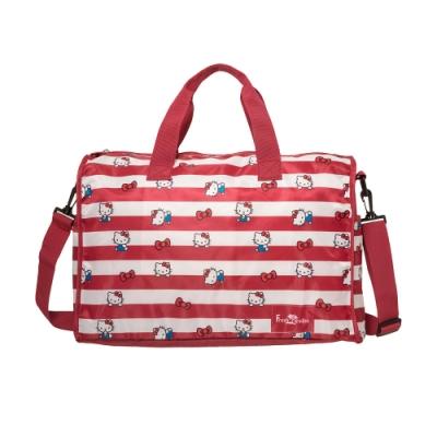 【Hello Kitty】摺疊旅行袋-紅 FPKT0B001RD