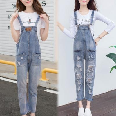 【韓國K.W.】(預購)減齡可愛連身牛仔吊帶褲-1色