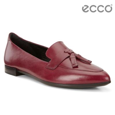 ECCO SHAPE POINTY BALLERINA 流蘇尖頭正裝風格芭蕾舞鞋 女-紅