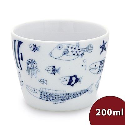 Natural69 波佐見燒 CocoMarine系列 日式茶杯 200ml 熱帶魚群