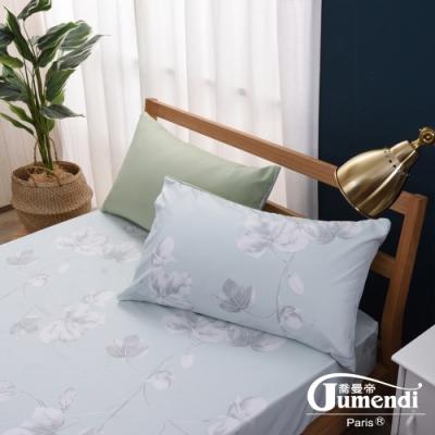 喬曼帝Jumendi 天然防蹣防蚊雙人床包組(採用Greenfirst技術)-午後青空
