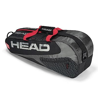 HEAD Elite Combi 6支裝球拍袋-紅黑 283739