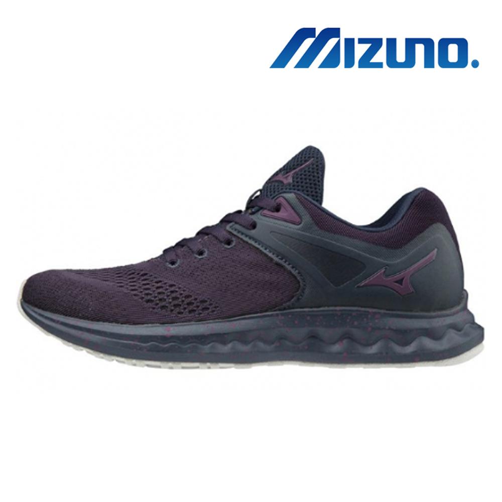 美津濃WAVE POLARIS SP 女慢跑鞋 暗紫 J1GD198353