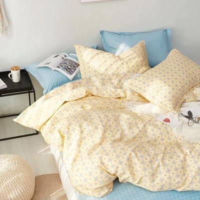 3-HO 雪紡棉 單人床包/枕套 二件組  法比奧-黃