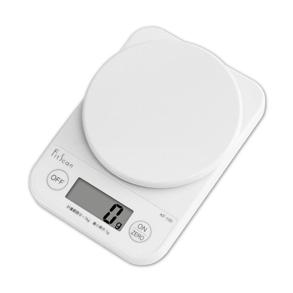 【TANITA】廚房迷你電子料理秤&電子秤-1kg-白色