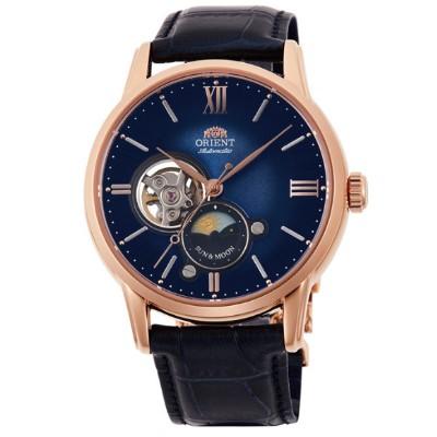 ORIENT 日本 東方錶 心靈致動 月相機械錶(RA-AS0006L)藍/42mm