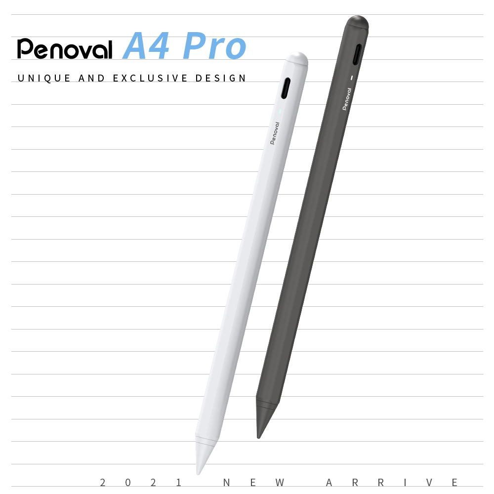 【Penoval Pencil A4 Pro】2021最新款 適用NEW iPad 防手掌誤觸 三段電量顯示