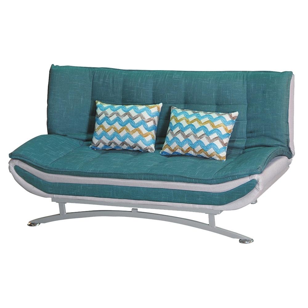 綠活居 卡婓爾時尚灰棉麻布沙發/沙發床(展開式機能設計)-194x120x46cm免組