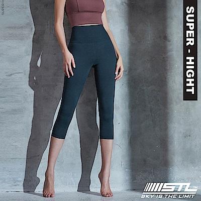 STL Wonder legging 7 韓 女 超高腰運動拉提褲 奇蹟午藍