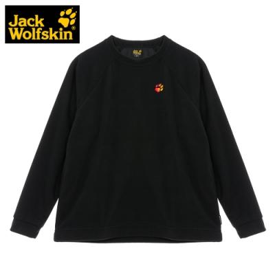 【Jack Wolfskin 飛狼】女 圓領刷毛保暖衣『黑色』