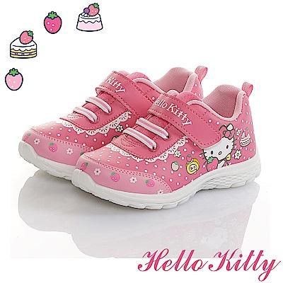 HelloKitty 草莓蛋糕系列 輕量減壓抗菌防臭休閒童鞋-桃