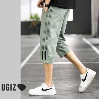UGIZ-型男素色個性邊條造型褲-2色(M-3XL)