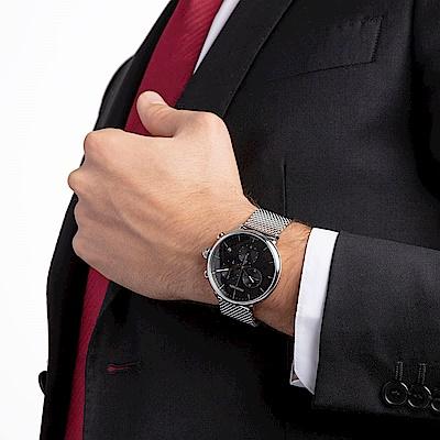 CALVIN KLEIN highnoon 巔峰系列計時手錶-黑/43mm